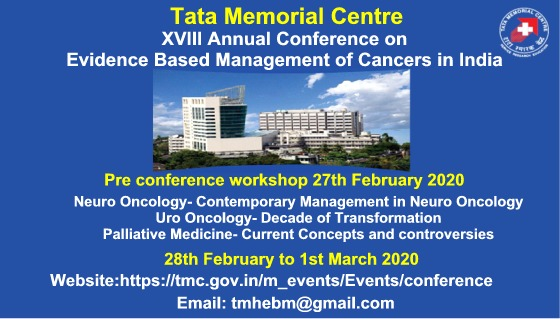 XVlII Annual Conference on Evidence Based Management of Cancers in India
