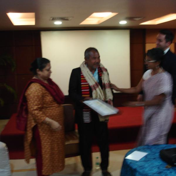Feliitating the Chief Guest - Padma Shri Jadavji Payeng