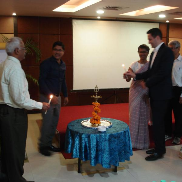 Lighting of the Lamp at the worskhop